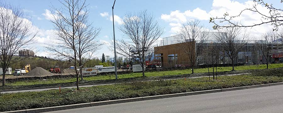 Southside Center Southern Medford Construction in April